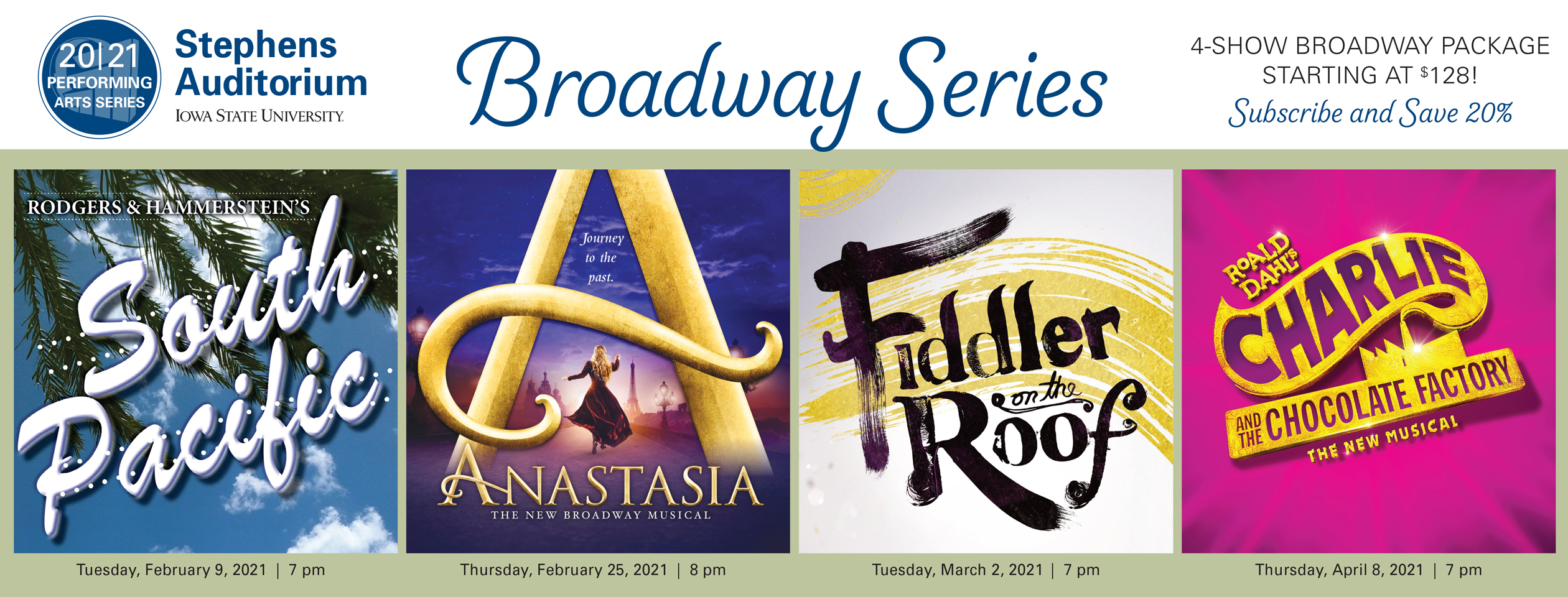 Stephens Auditorium Broadway Series Package