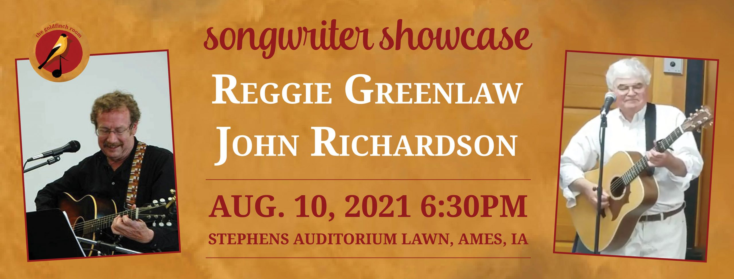 Reggie Greenlaw and John Richardson at the Goldfinch Room