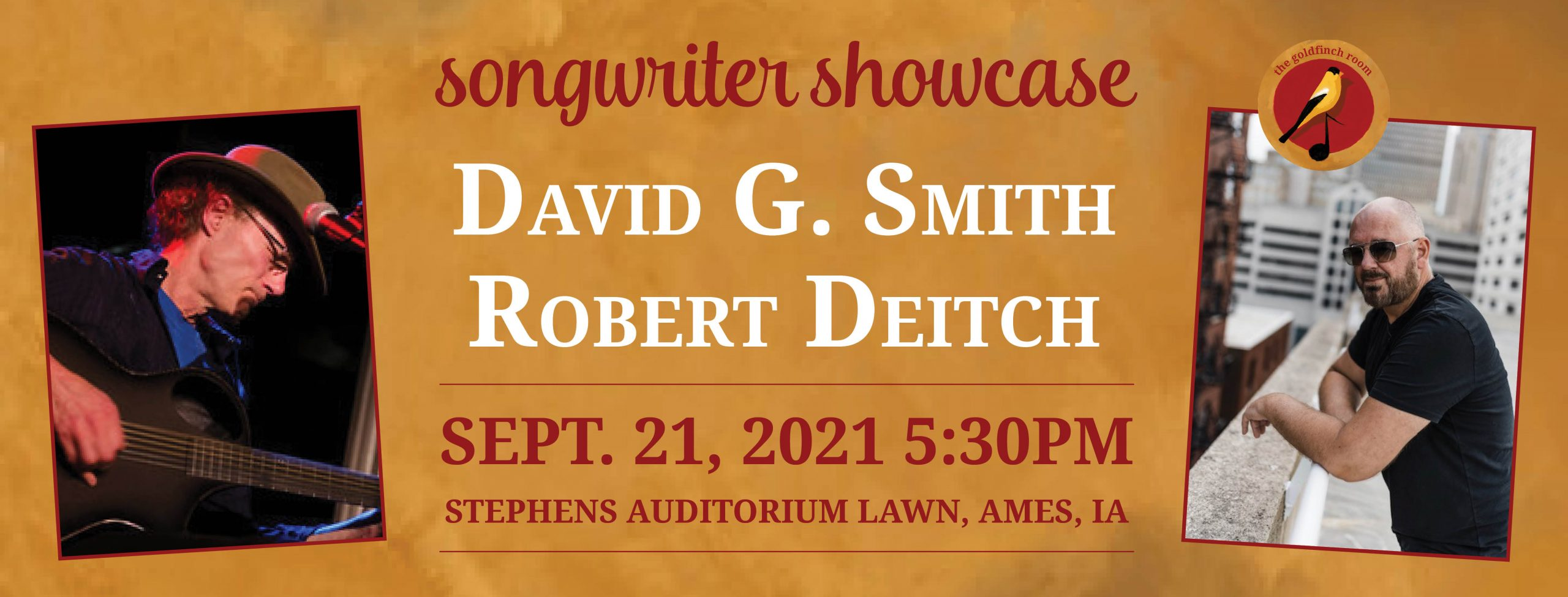 David G. Smith and Robert Deitch at the Goldfinch Room